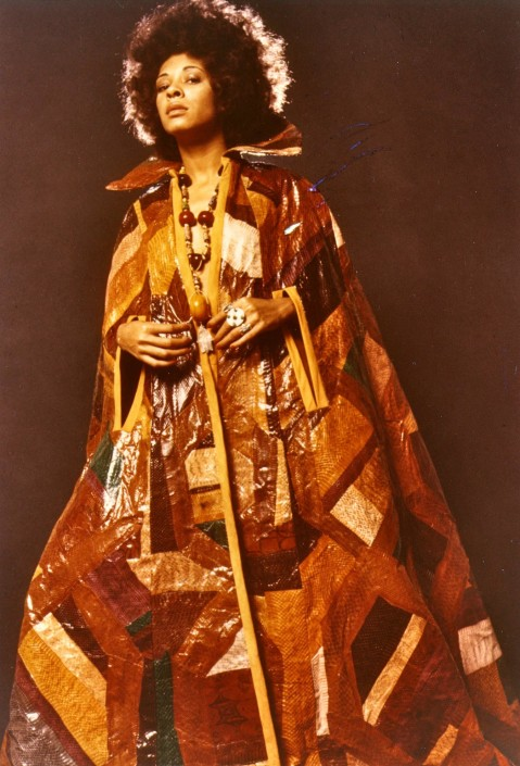Suede-lined patchwork snakeskin full length cape- wow!