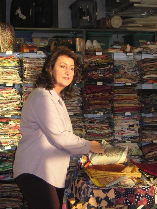Eunice Day-Smith at the Textile Documents studio in New York, 2008