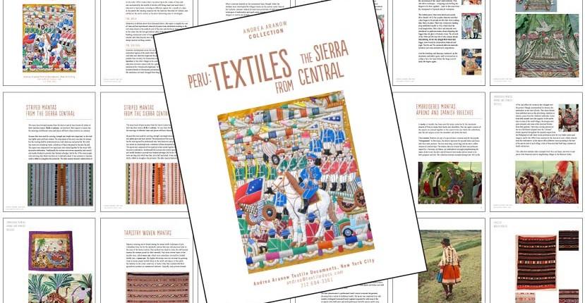 andrea aranow textiles Peru central presentation