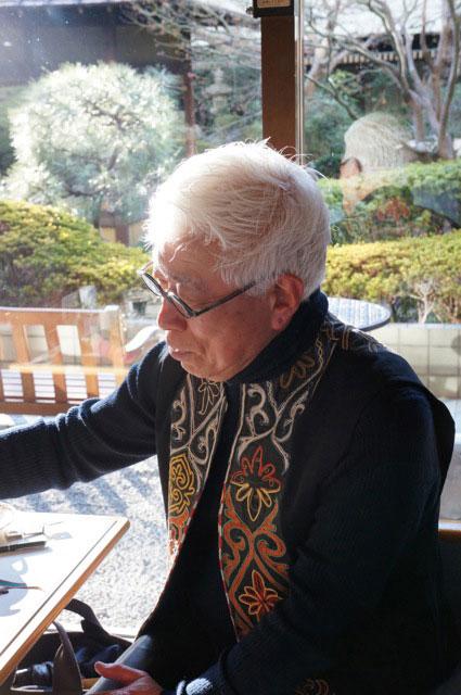 Ken Kirihata (切畑健), retired textile curator at Kyoto National Museum, 2012