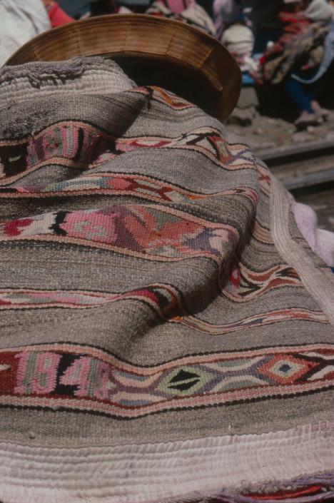 1948 tapestry woven manta, Jauja